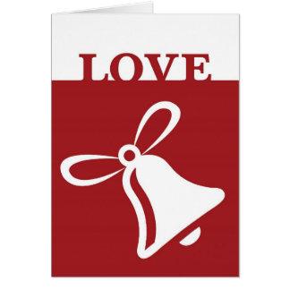 Cartão do feriado de Bell do amor