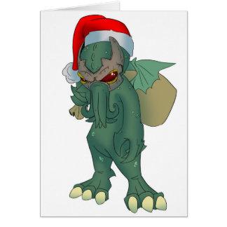 Cartão do feriado de Cthulhu
