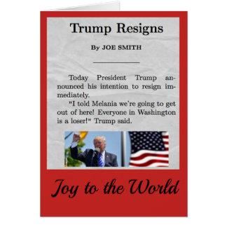 Cartão do feriado de Donald Trump