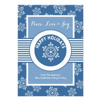 Cartão do feriado de Groupon do medalhão do White Convite