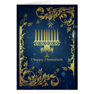 cartão do feriado de hanukkah com menorah