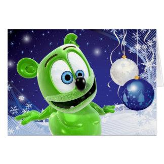 Cartão do feriado de inverno do Natal de Gummibär