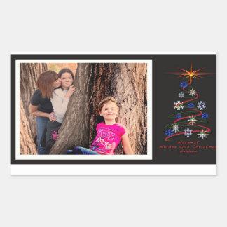 Cartão do feriado de Laura Adesivo Retangular
