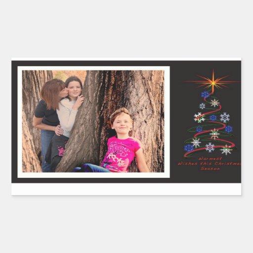 Cartão do feriado de Laura Adesivo Em Forma Retangular