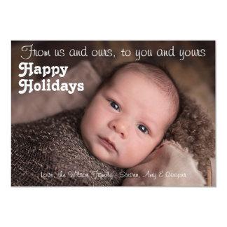Cartão do feriado, de nós e de nossos a você e a convite 12.7 x 17.78cm