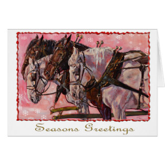 Cartão do feriado de Percheron