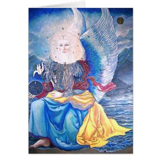 cartão do feriado do anjo