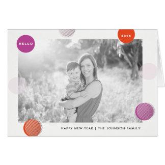 Cartão do feriado do ano novo das bolinhas do