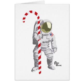 Cartão do feriado do astronauta