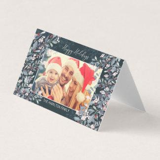 Cartão do feriado do azevinho da aguarela