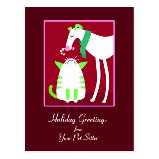 Cartão do feriado do baby-sitter do animal de