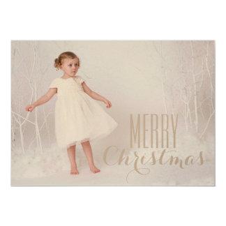 Cartão do feriado do campo do Feliz Natal Convite 12.7 X 17.78cm