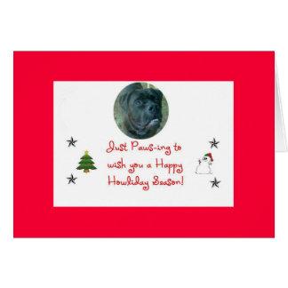 cartão do feriado do cão