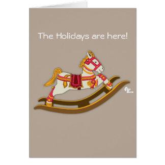 Cartão do feriado do cavalo de balanço
