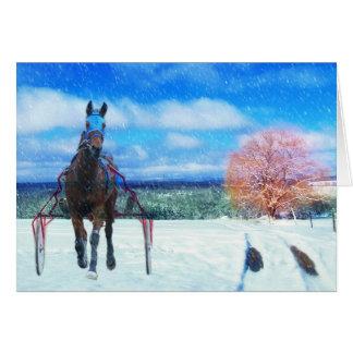 Cartão do feriado do cavalo de competência do