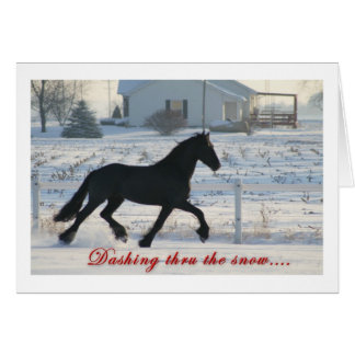 Cartão do feriado do cavalo do frisão