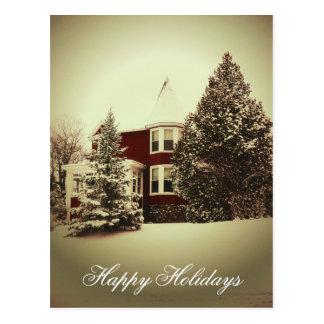 Cartão do feriado do estilo do vintage
