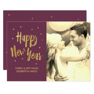 Cartão do feriado do feliz ano novo da ameixa convite 12.7 x 17.78cm