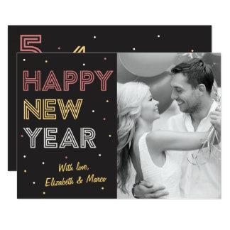 Cartão do feriado do feliz ano novo da contagem convite 12.7 x 17.78cm