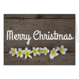 Cartão do feriado do Feliz Natal do plumeria do