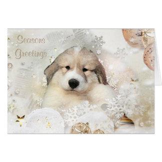 Cartão do feriado do filhote de cachorro da