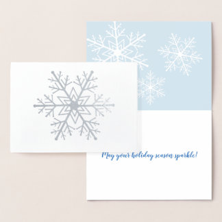 Cartão do feriado do floco de neve da folha de