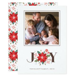Cartão do feriado do Flourish da alegria - branco Convite 12.7 X 17.78cm