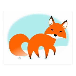 Cartão do feriado do Fox vermelho