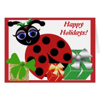 Cartão do feriado do joaninha de Madeleine Toon