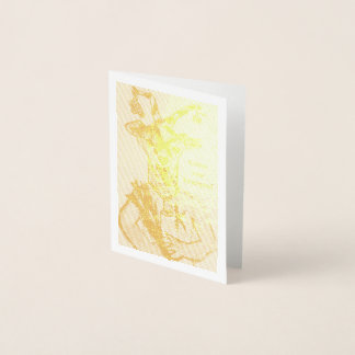 Cartão do feriado do Natal da folha de ouro de