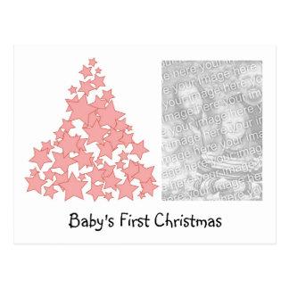 Cartão do feriado do Natal do bebê personalizado