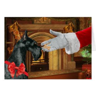 Cartão do feriado do Natal do Schnauzer gigante