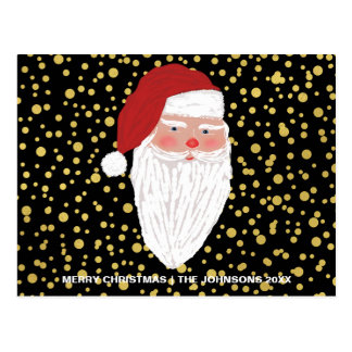 Cartão do feriado do Natal dos Sparkles do ouro do