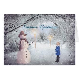 Cartão do feriado do país das maravilhas do