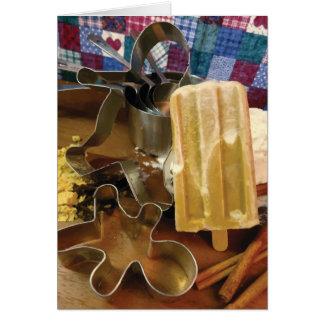 Cartão do feriado do pão do gengibre