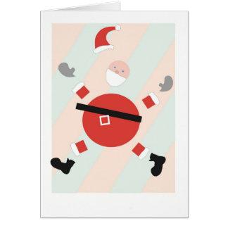 Cartão do feriado do papai noel do Parte-Cheio