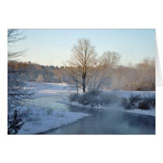 Cartão do feriado do rio de Quaboag