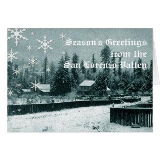 Cartão do feriado do vale de San Lorenzo