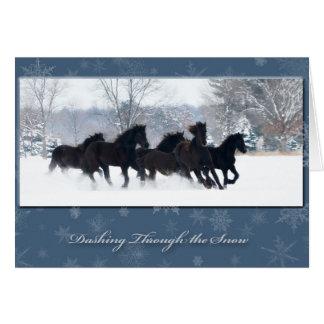 Cartão do feriado dos animais de um ano do frisão