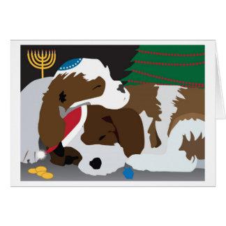 Cartão do feriado dos filhotes de cachorro