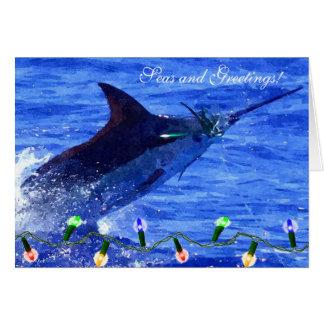 Cartão do feriado dos mares e dos cumprimentos do
