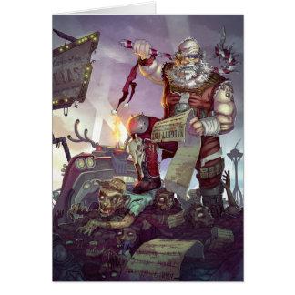 Cartão do feriado dos zombis