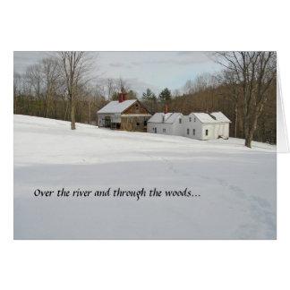 Cartão do feriado - inverno no país