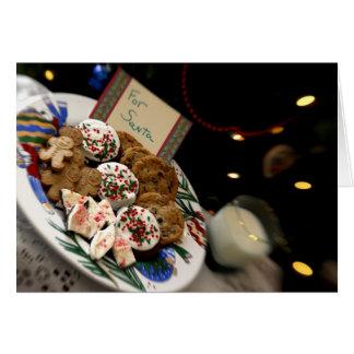 Cartão Do feriado vida ainda. Biscoitos & leite do Natal