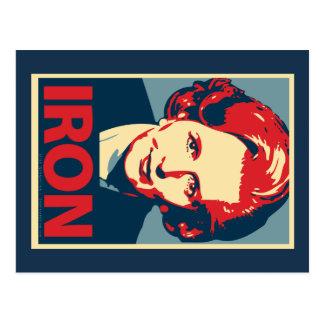 """Cartão do """"ferro"""" de Margaret Thatcher"""