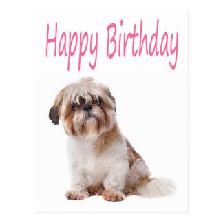 Cartão do filhote de cachorro de Shih Tzu do feliz