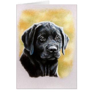 Cartão do filhote de cachorro do laboratório do