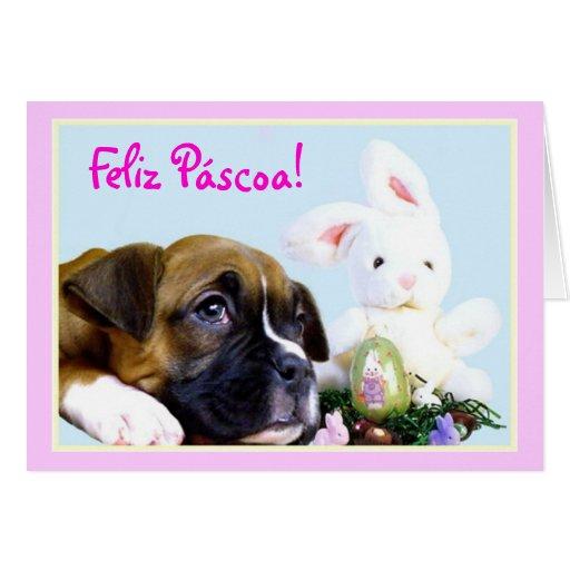 Cartão do filhote de cachorro do pugilista de Feli
