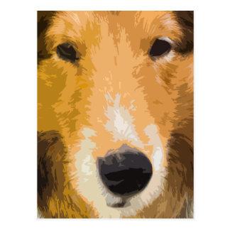 Cartão do Fim-Acima do Sheepdog de Shetland