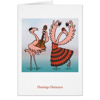 Cartão do Flamenco do flamingo